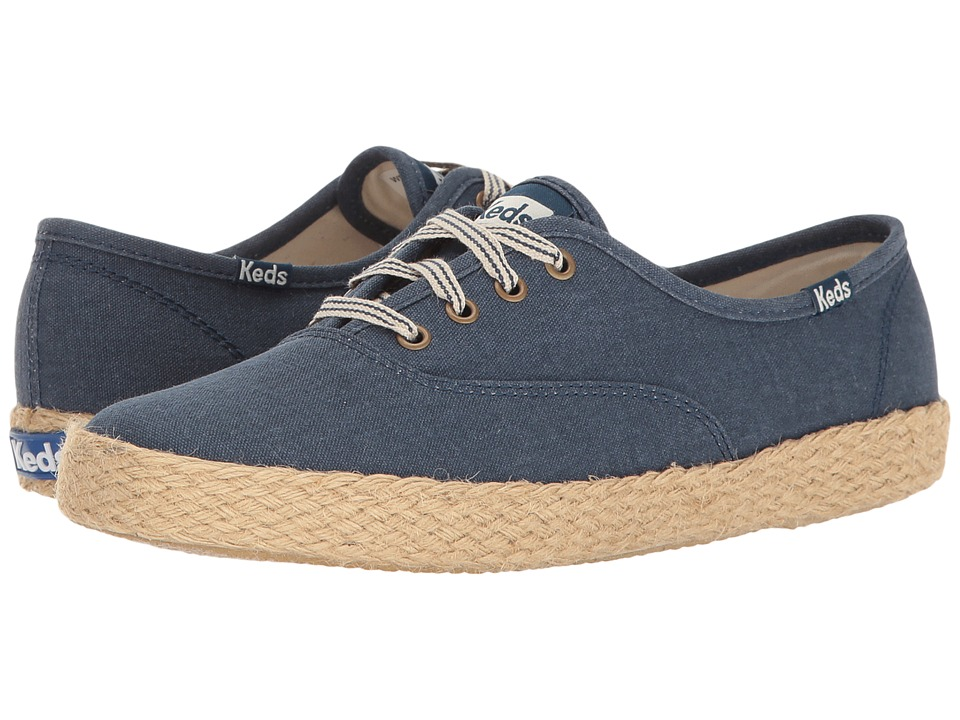 Keds Champion Salt Wash Canvas Jute (Navy) Women