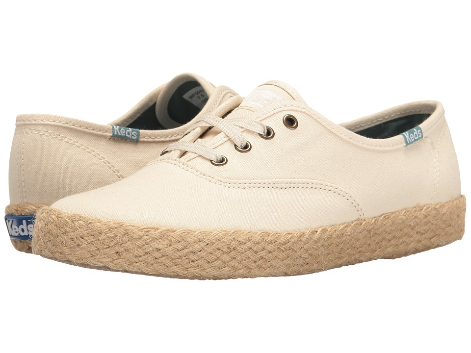 Keds - Champion Salt Wash Canvas Jute (Cream) Women's Lace up casual Shoes