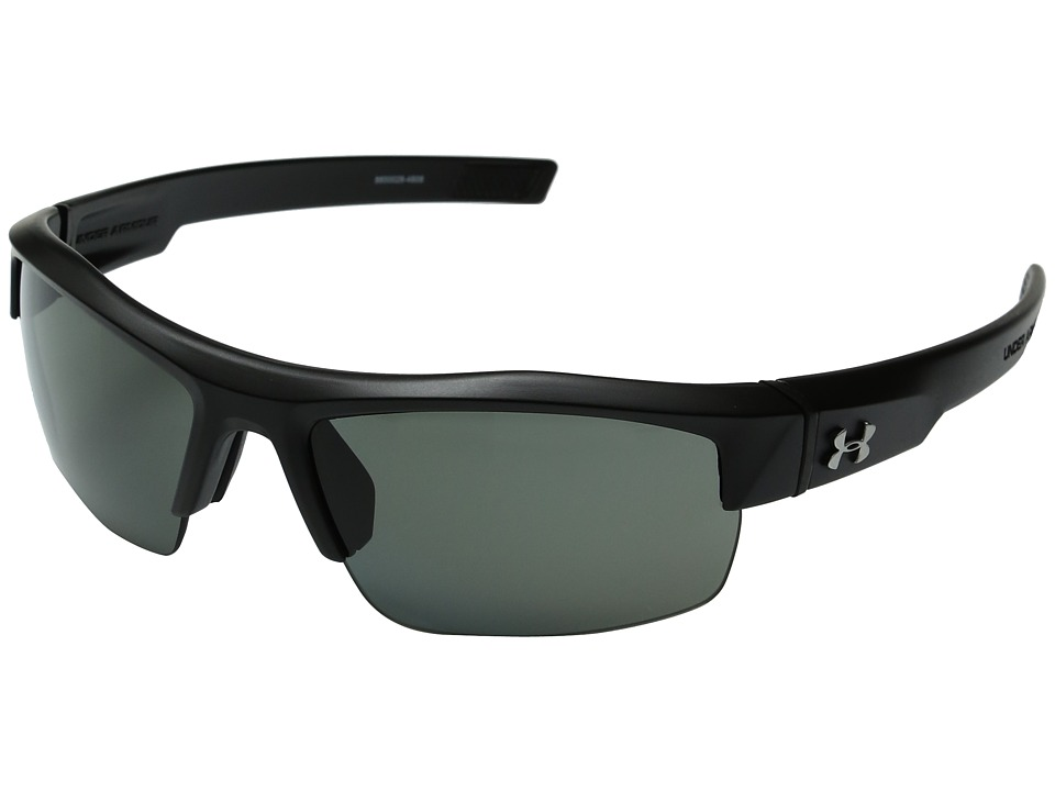 Under Armour - UA Igniter Polarized (Satin Black) Athletic Performance Sport Sunglasses