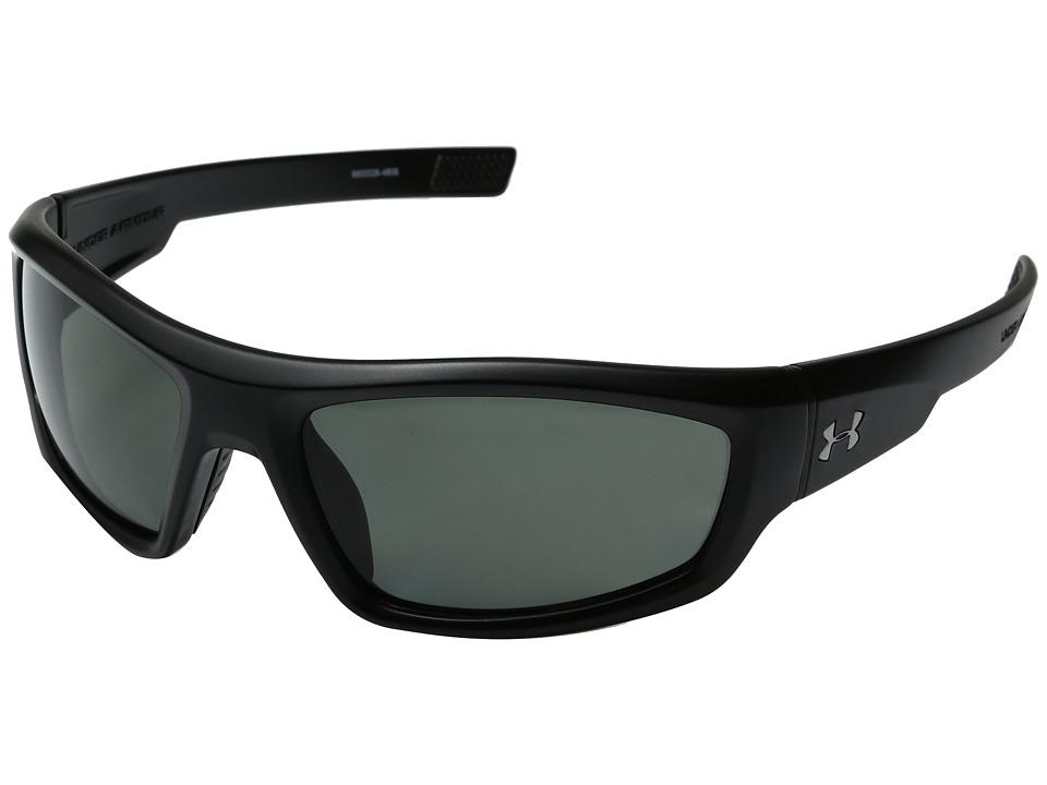 Under Armour - UA Power Polarized (Satin Black) Athletic Performance Sport Sunglasses