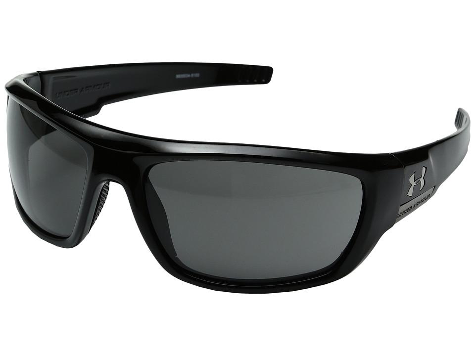Under Armour - Prevail Polarized (Shiny Black) Sport Sunglasses