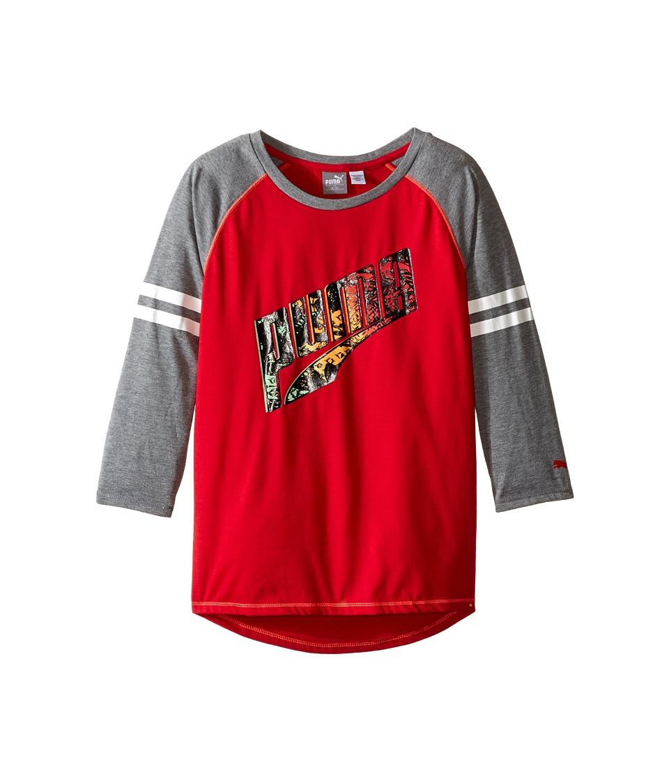 Puma Kids - Tail Hem PUMA Top (Big Kids) (Play Red) Girl's Clothing