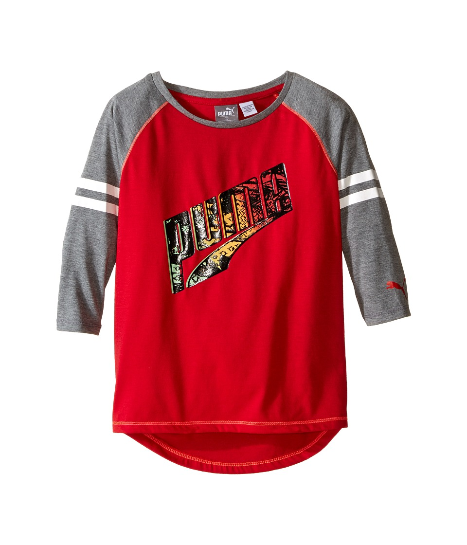 Puma Kids - Tail Hem PUMA Top (Little Kids) (Play Red) Girl's Clothing