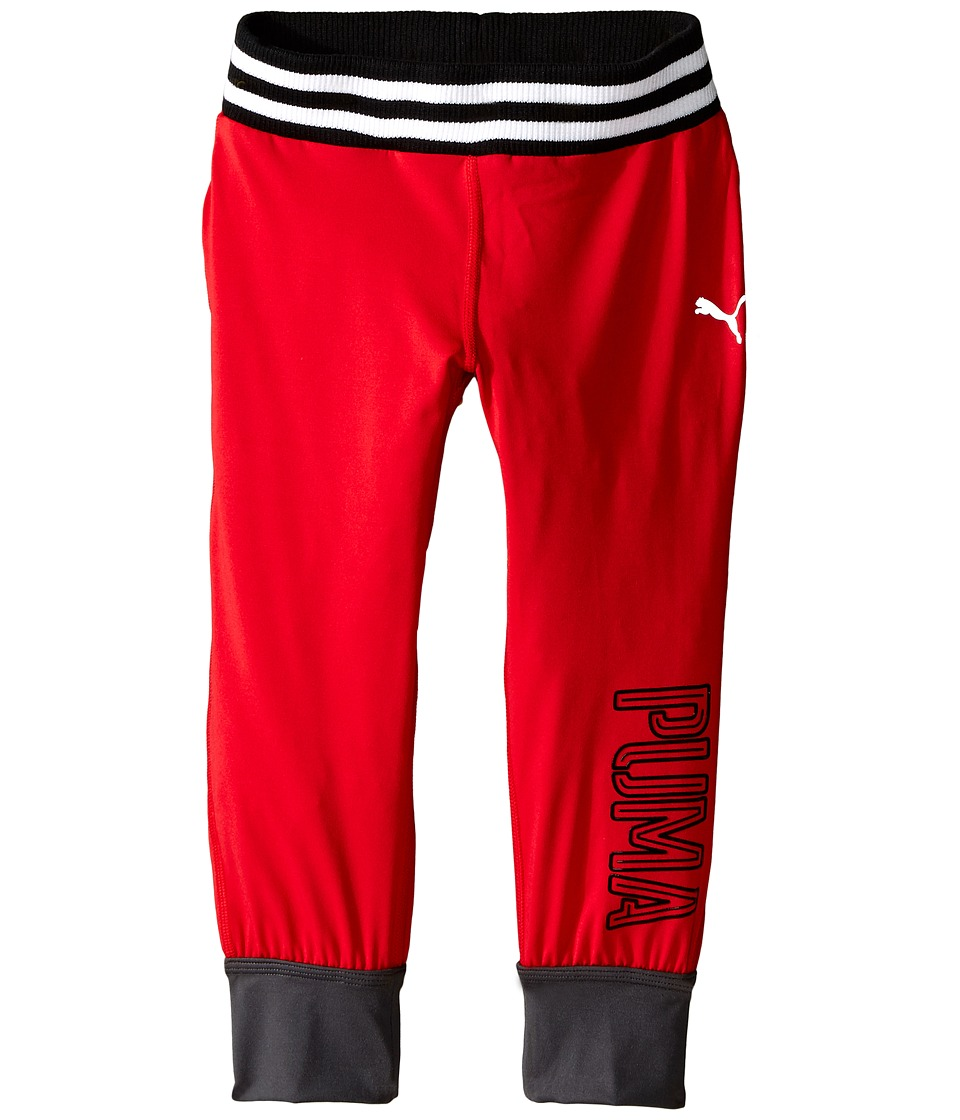 Puma Kids - Knit Capris Jogger (Little Kids) (Play Red) Girl's Capri