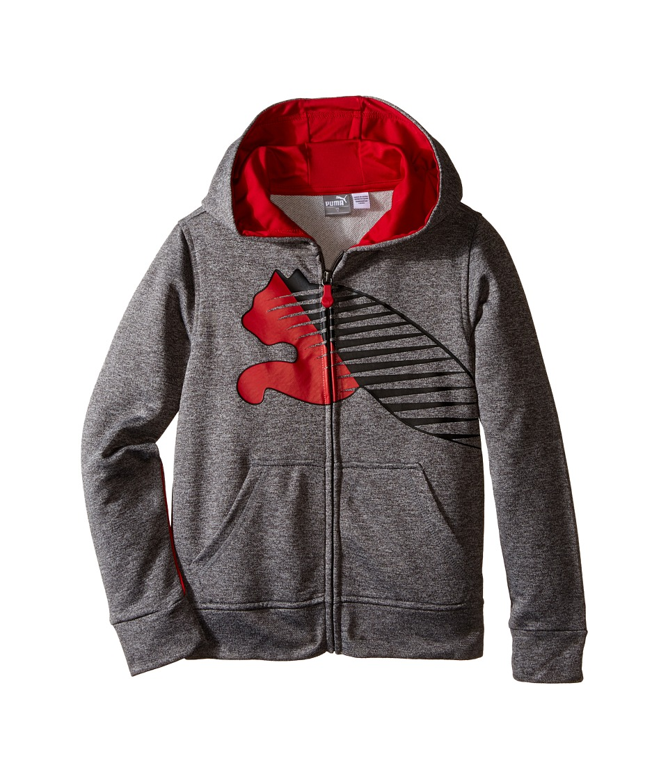 Puma Kids - The Biggest Cat Hoodie (Little Kids) (Charcoal Heather) Boy's Sweatshirt