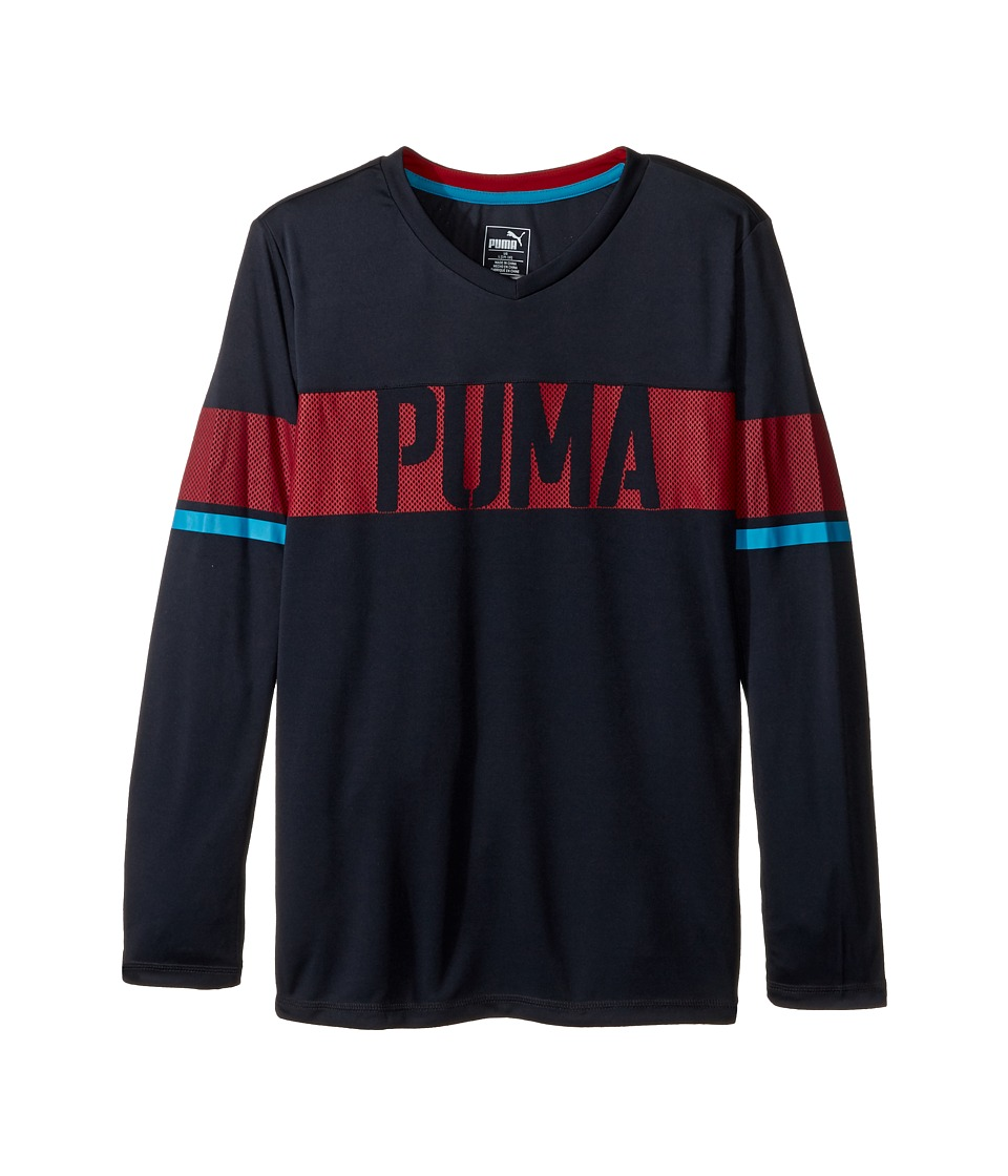 Puma Kids - PUMA Sport Long Sleeve Top (Big Kids) (Coal) Boy's Clothing