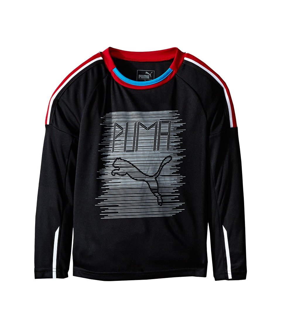 Puma Kids - Fast Lane Long Sleeve Top (Little Kids) (PUMA Black) Boy's Clothing