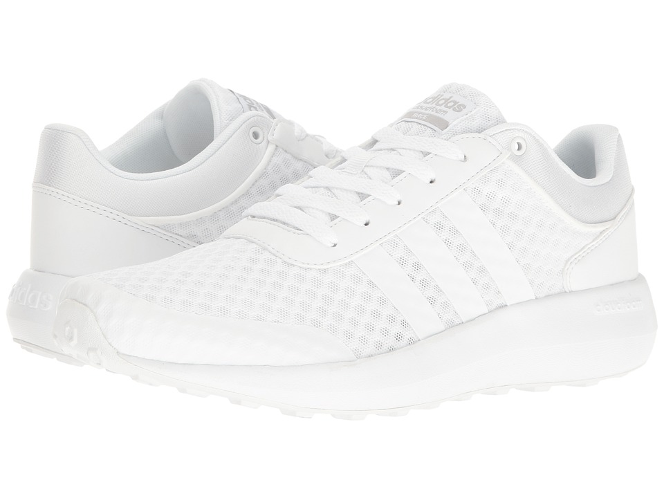 adidas - Cloudfoam Race (White/Clear Onix) Men's Shoes