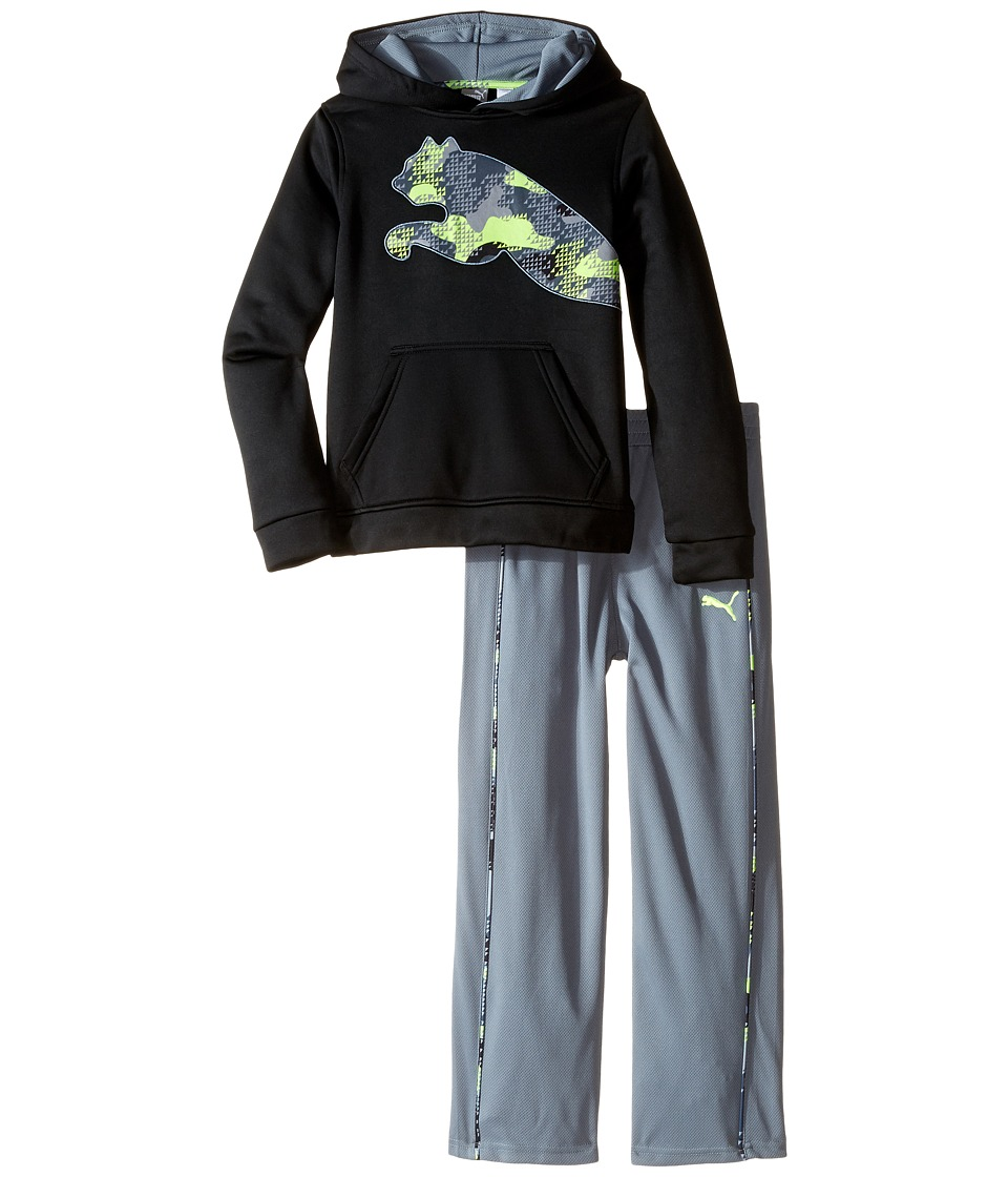 Puma Kids - Tech Fleece Pullover Set (Little Kids/Big Kids) (PUMA Black) Boy's Active Sets