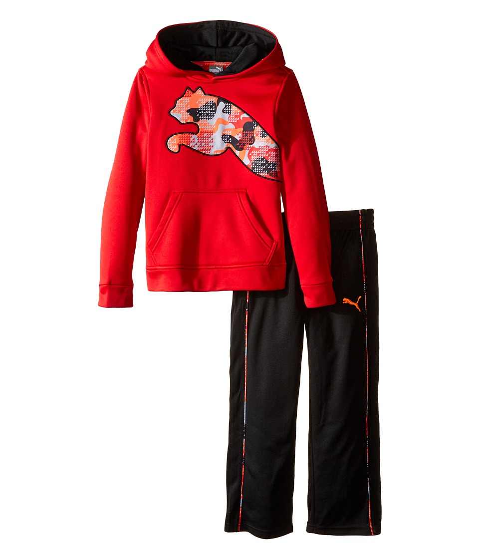 Puma Kids - Tech Fleece Pullover Set (Little Kids/Big Kids) (Fierce Red) Boy's Active Sets