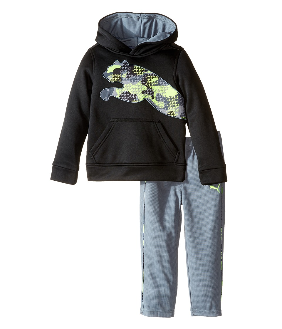 Puma Kids - Tech Fleece Pullover Set (Toddler) (PUMA Black) Boy's Active Sets