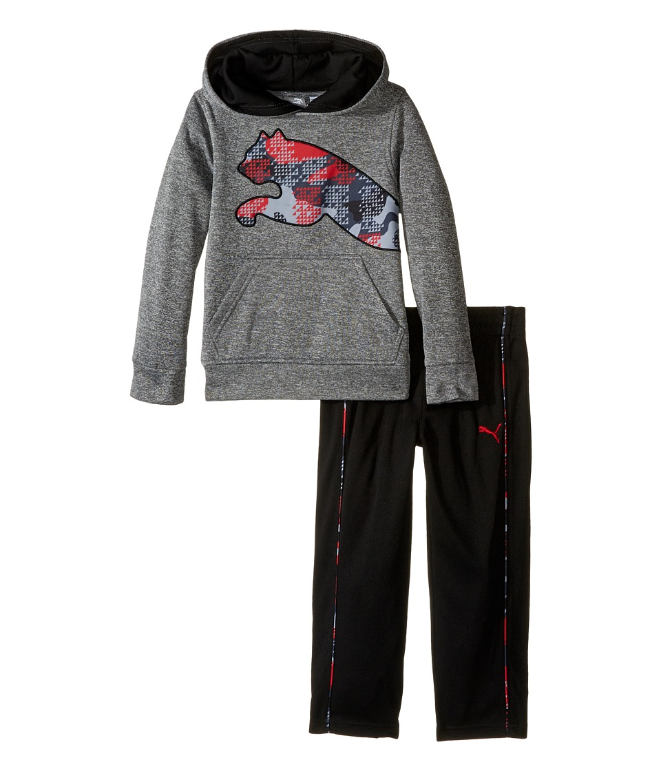 Puma Kids - Tech Fleece Pullover Set (Toddler) (Charcoal Heather) Boy's Active Sets