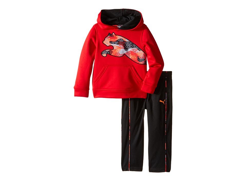 Puma Kids - Tech Fleece Pullover Set (Toddler) (Fierce Red) Boy's Active Sets