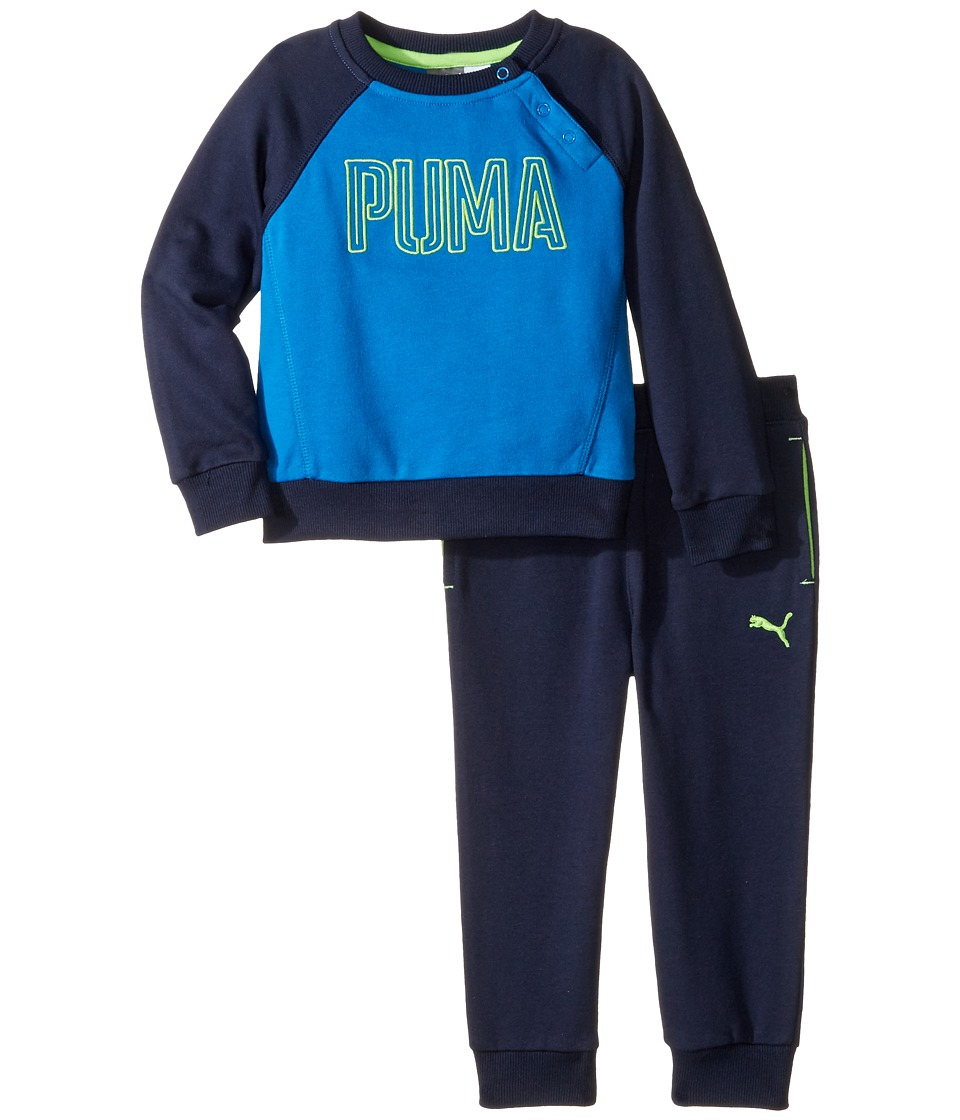 Puma Kids - PUMA Two-Piece Set (Infant) (Deep Navy) Boy's Active Sets