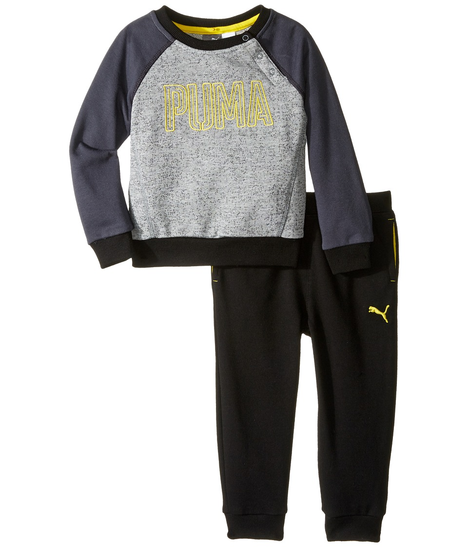 Puma Kids - PUMA Two-Piece Set (Infant) (PUMA Black) Boy's Active Sets