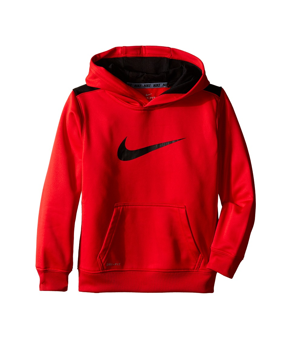 Nike Kids - Therma KO Swooshtm Hoodie (Little Kids) (University Red) Boy's Clothing