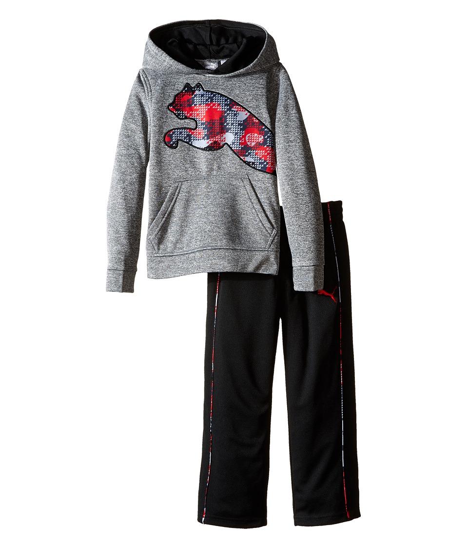 Puma Kids - Tech Fleece Pullover Set (Little Kids/Big Kids) (Charcoal Heather) Boy's Active Sets
