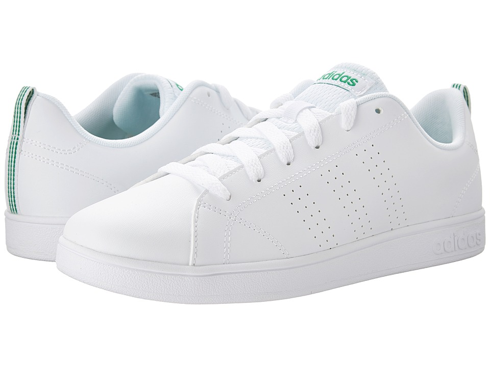 adidas Kids Advantage Clean (Little Kid/Big Kid) (White) Kids Shoes