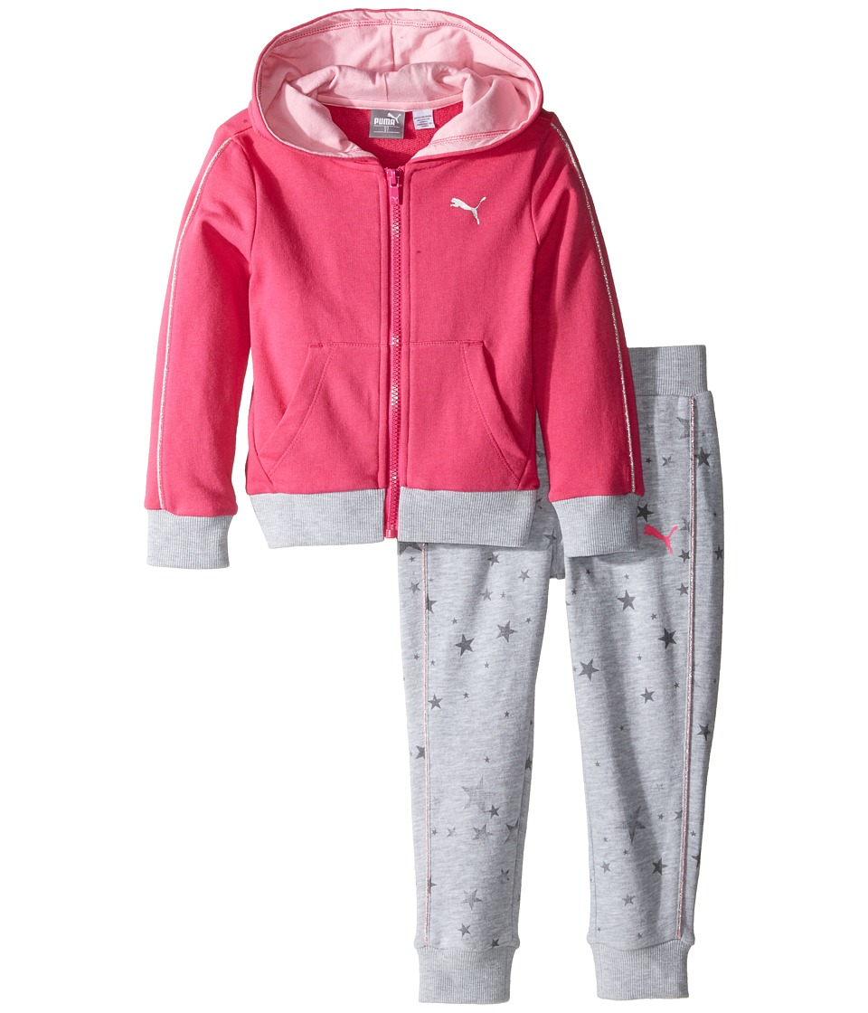 Puma Kids - Star Print Two-Piece Set (Toddler) (Pink Glo) Girl's Active Sets
