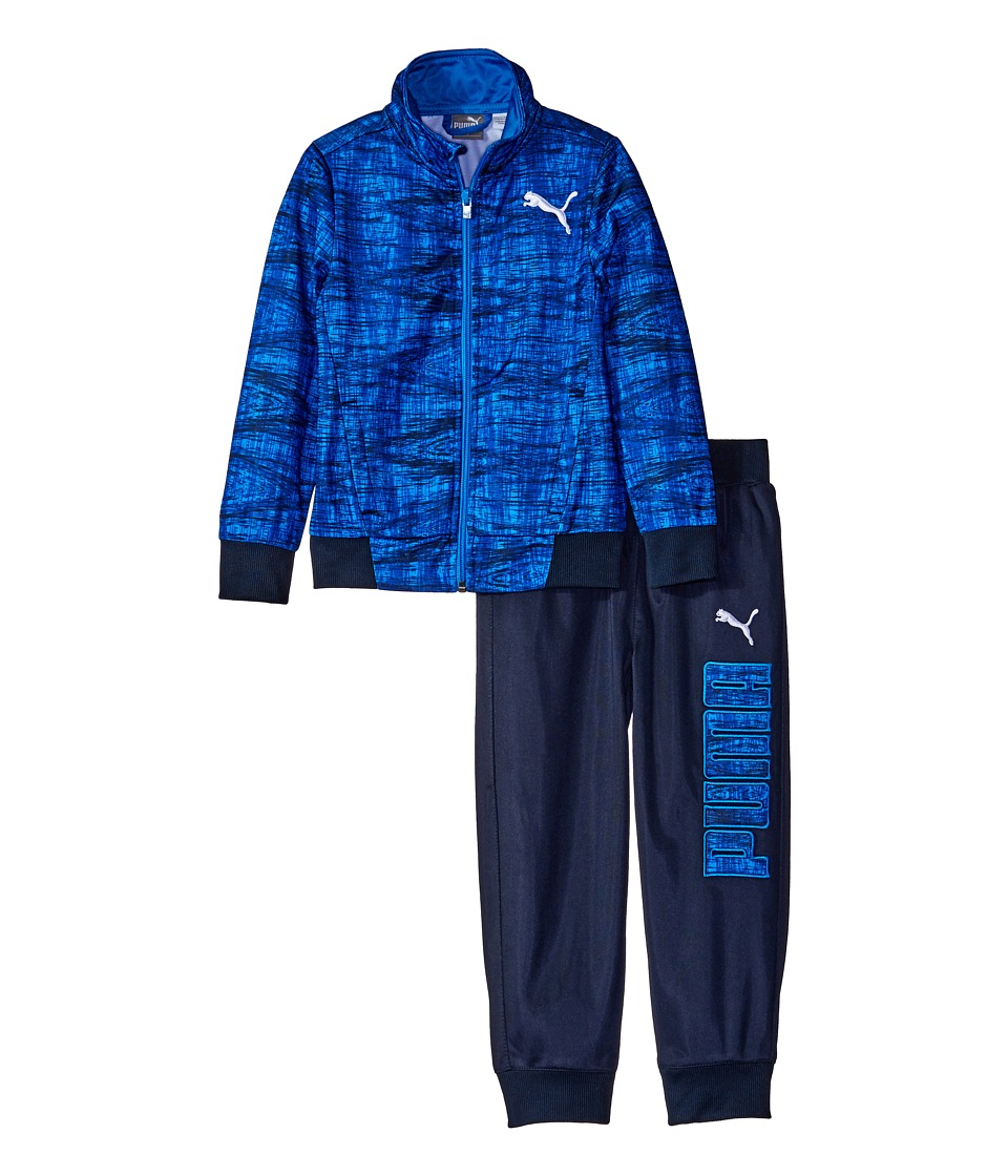 Puma Kids - Kaleidoskop Printed Tracks Suit (Toddler) (Sky Blue) Boy's Active Sets