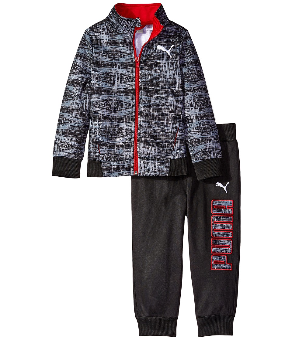 Puma Kids - Kaleidoskop Printed Tracks Suit (Toddler) (PUMA Black) Boy's Active Sets