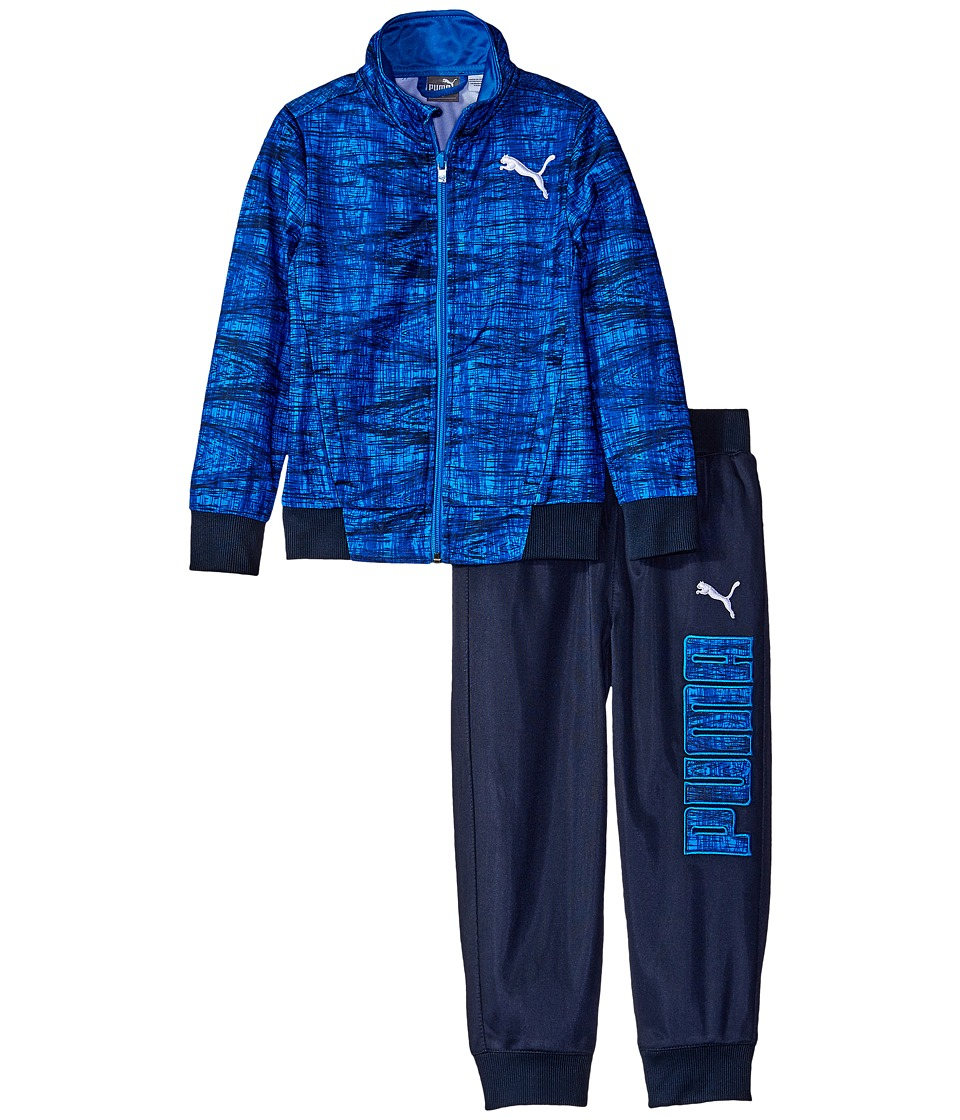 Puma Kids - Kaleidoskop Printed Tracks Suit (Little Kids/Big Kids) (Sky Blue) Boy's Active Sets