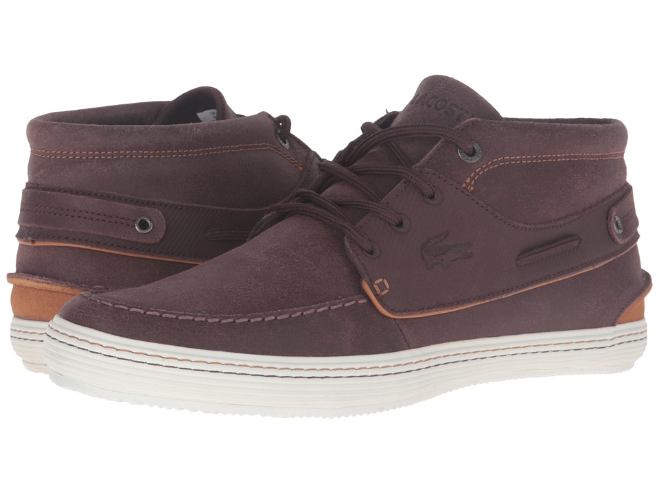 Lacoste - Meyssac Deck AP SRM (Burgendy/Light Brown) Men's Shoes