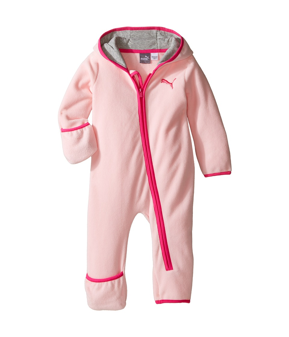 Puma Kids - PUMA Zip Front Pram (Infant) (Pink Bow) Girl's Jumpsuit & Rompers One Piece