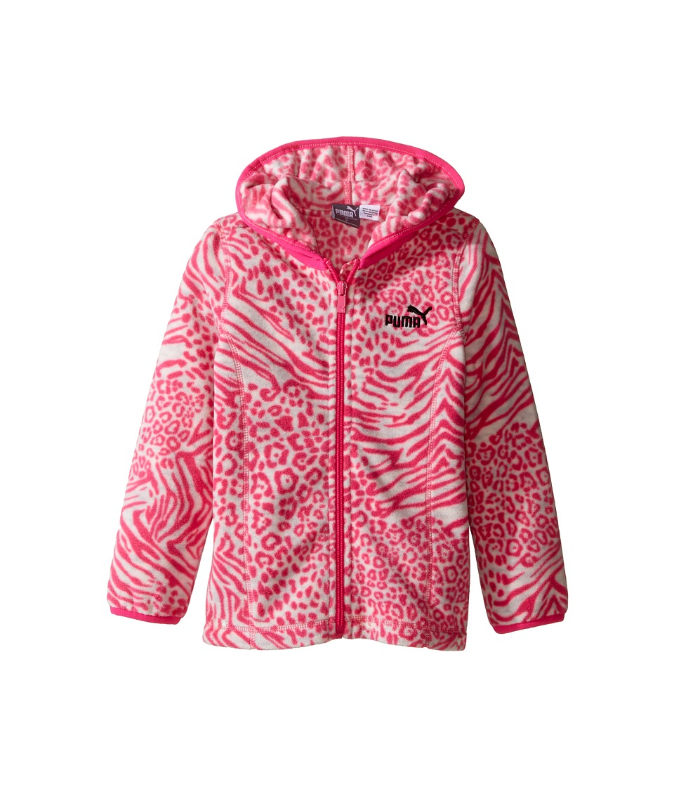 Puma Kids - Printed Polar Fleece Zip Front Hoodie (Toddler) (Sugar Plum) Girl's Sweatshirt