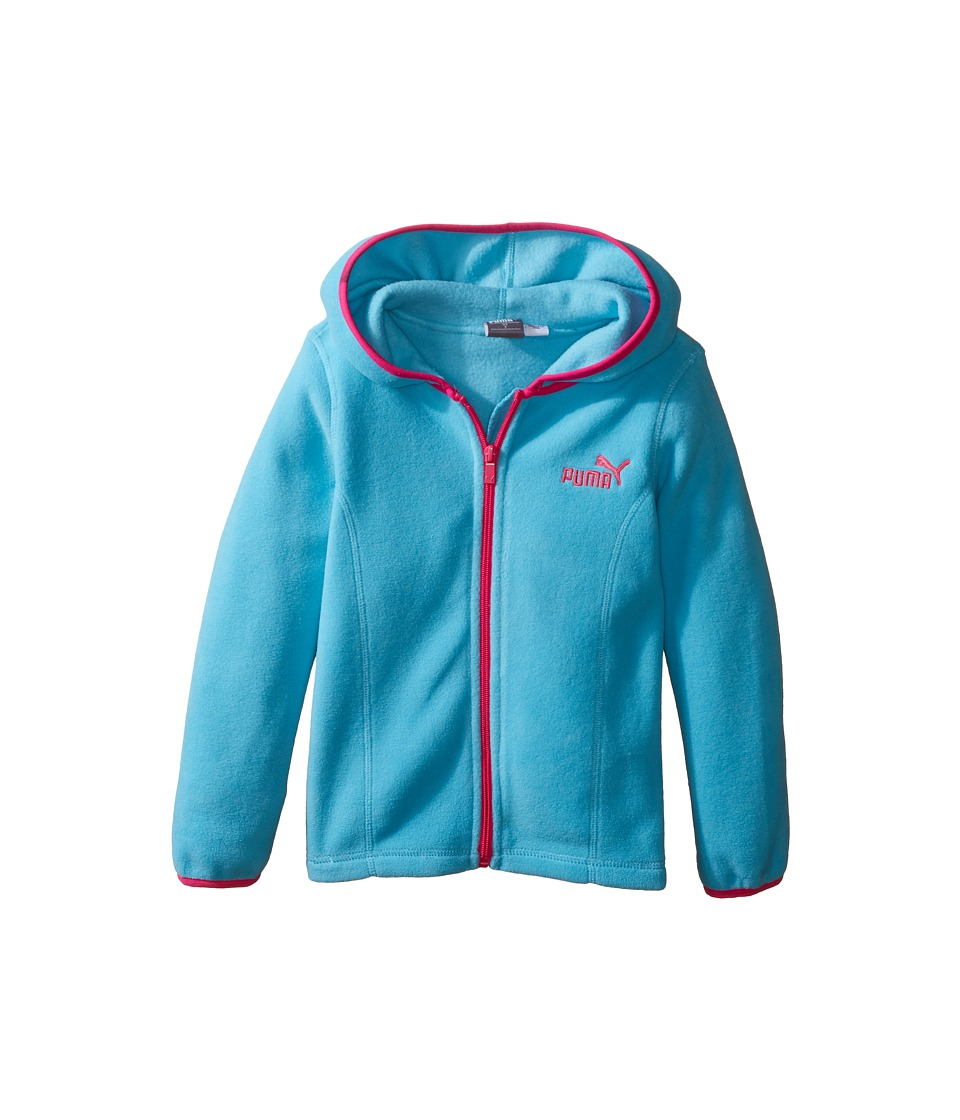 Puma Kids - Solid Polar Fleece Zip Front Hoodie (Little Kids) (Kick Blue) Girl's Sweatshirt