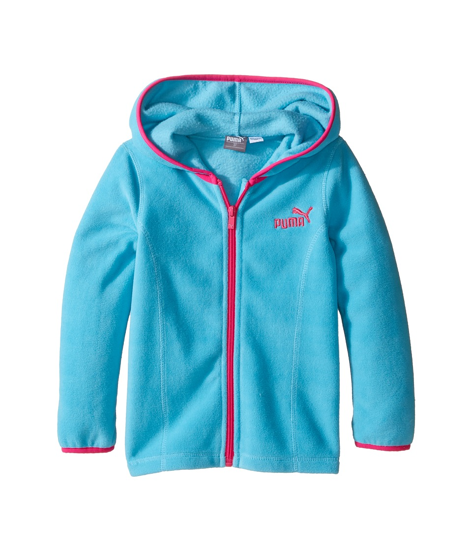 Puma Kids - Solid Polar Fleece Zip Front Hoodie (Toddler) (Kick Blue) Girl's Sweatshirt