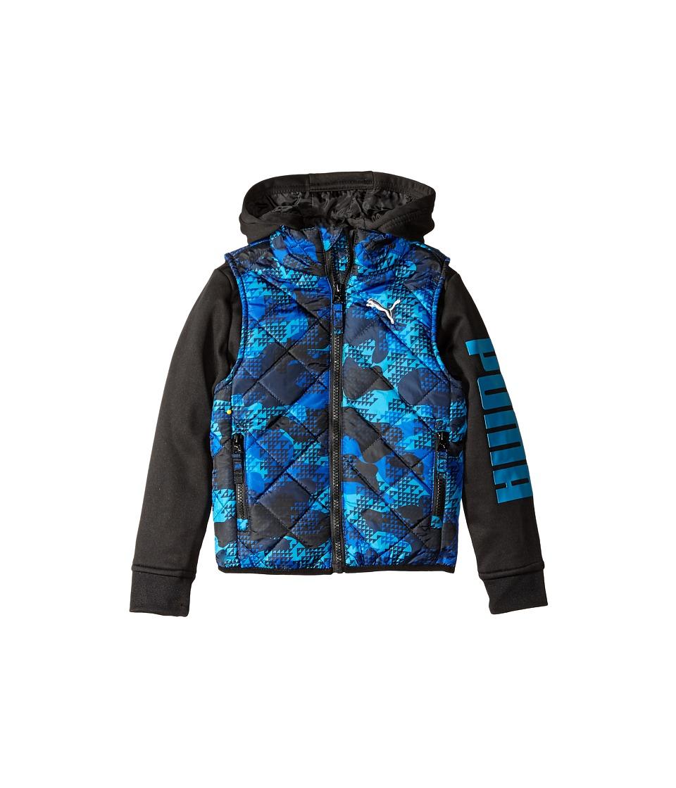 Puma Kids - Hoodie Vest Printed Jacket (Big Kids) (Sky Blue) Boy's Coat