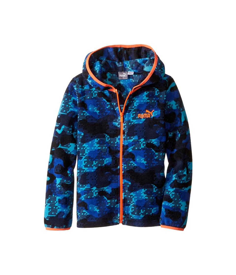 Puma Kids - Printed Polar Fleece Jacket (Little Kids) (Deep Navy) Boy's Coat