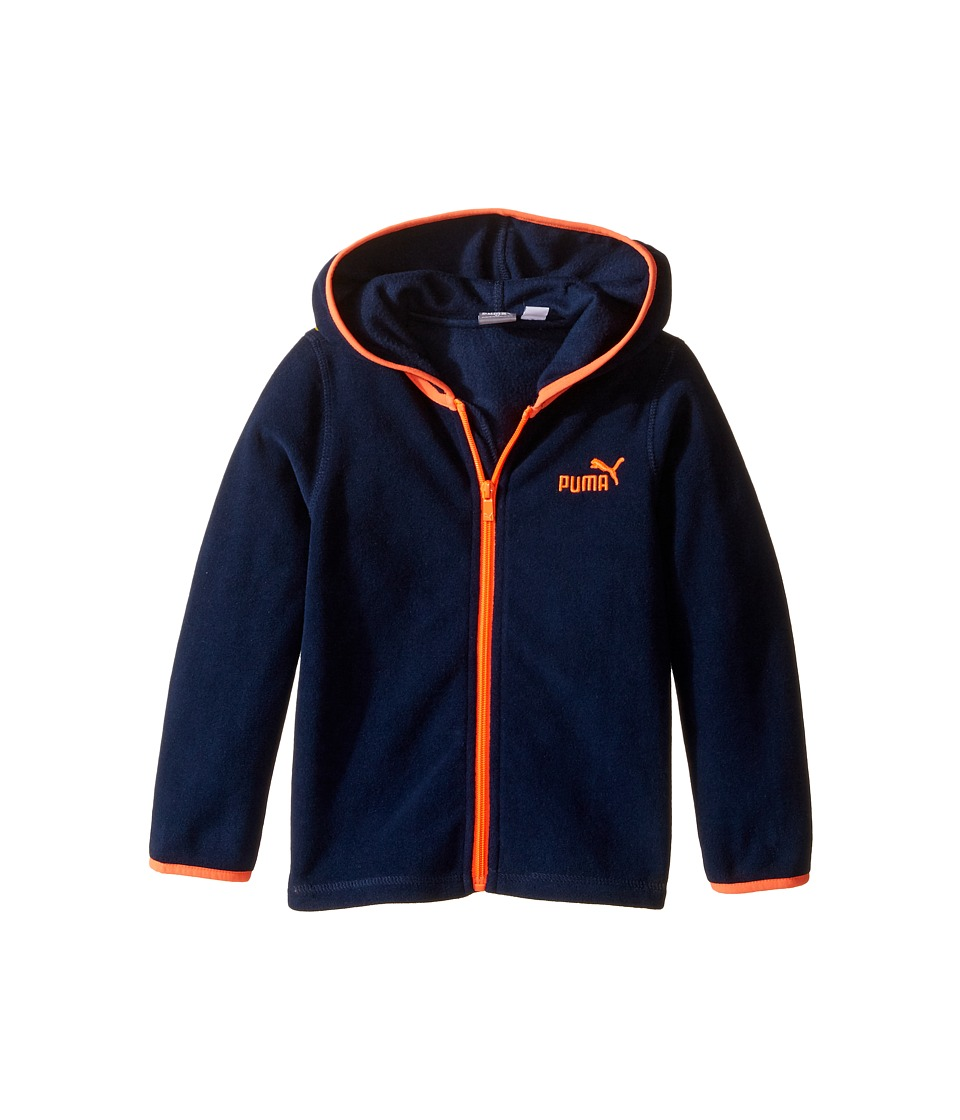 Puma Kids - Polar Fleece Jacket (Toddler) (Deep Navy) Boy's Coat
