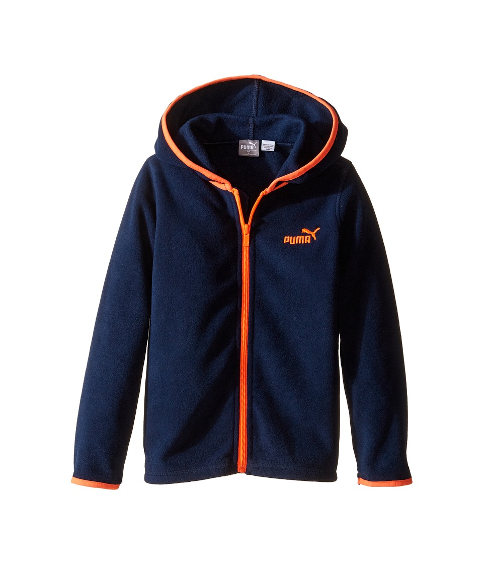 Puma Kids - Polar Fleece Jacket (Little Kids) (Deep Navy) Boy's Coat
