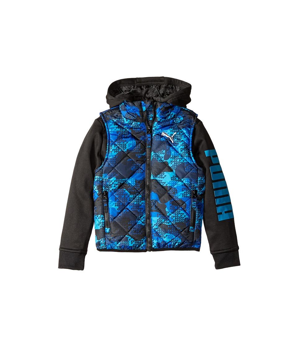 Puma Kids - Hoodie Vest Printed Jacket (Little Kids) (Sky Blue) Boy's Coat