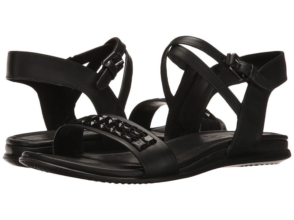 ECCO Touch Embellished Sandal (Black Cow Leather) Women