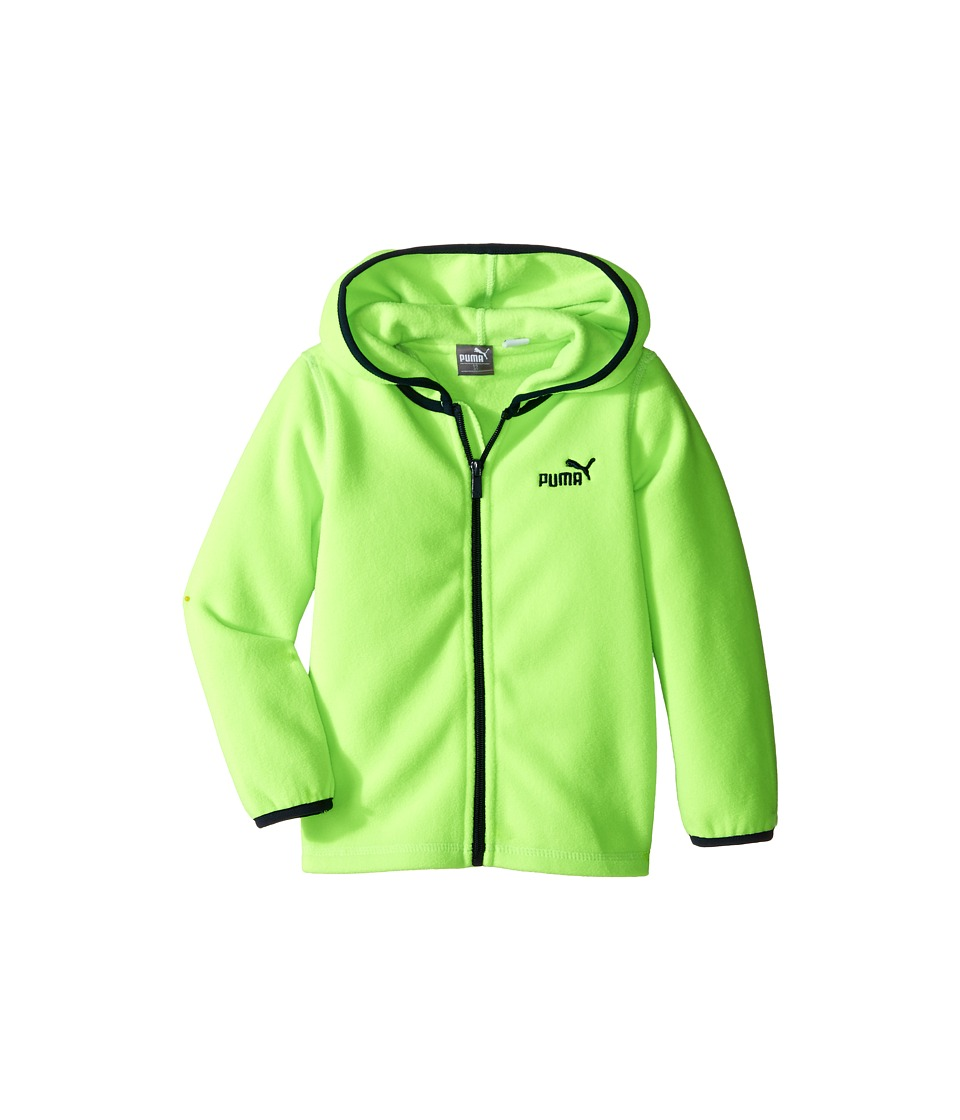 Puma Kids - Polar Fleece Jacket (Toddler) (Active Green) Boy's Coat