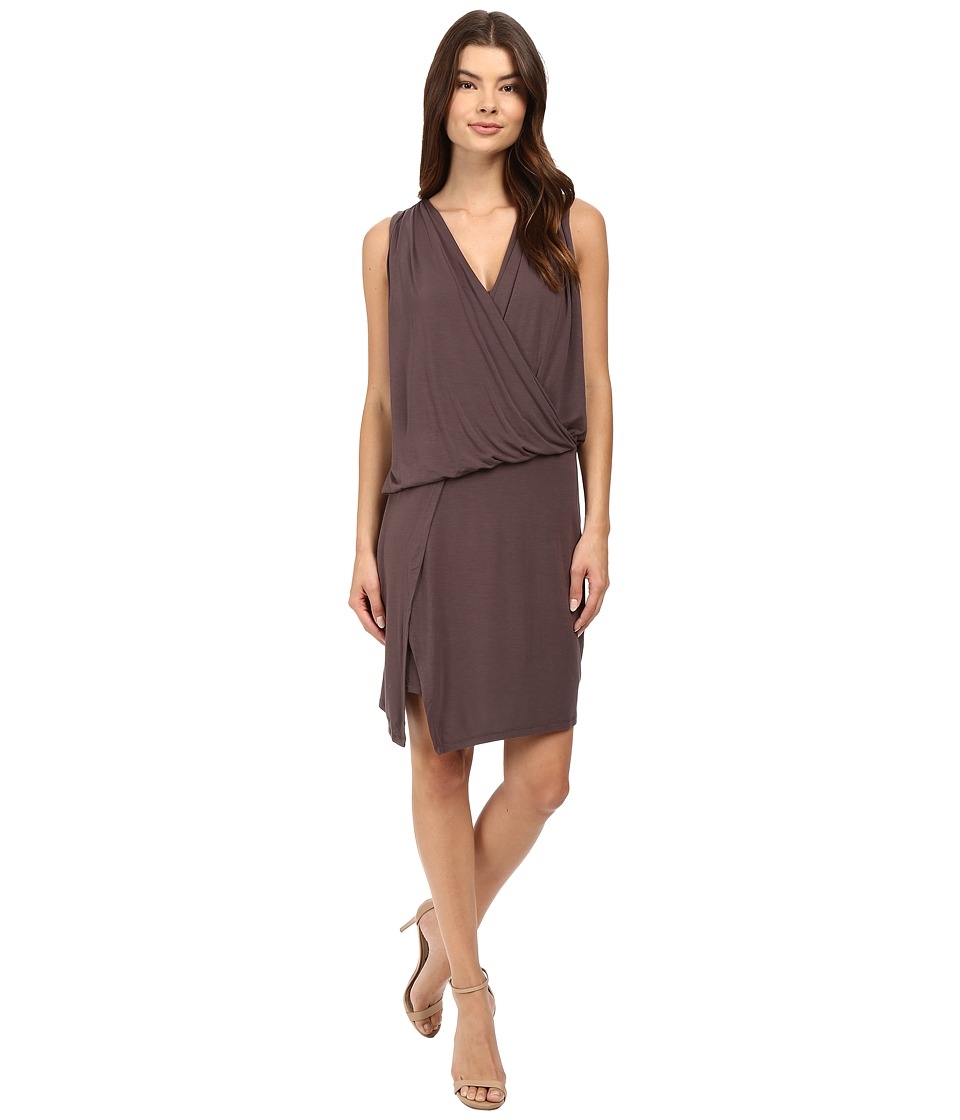 HEATHER - Wrap Front Dress (Oak) Women's Dress