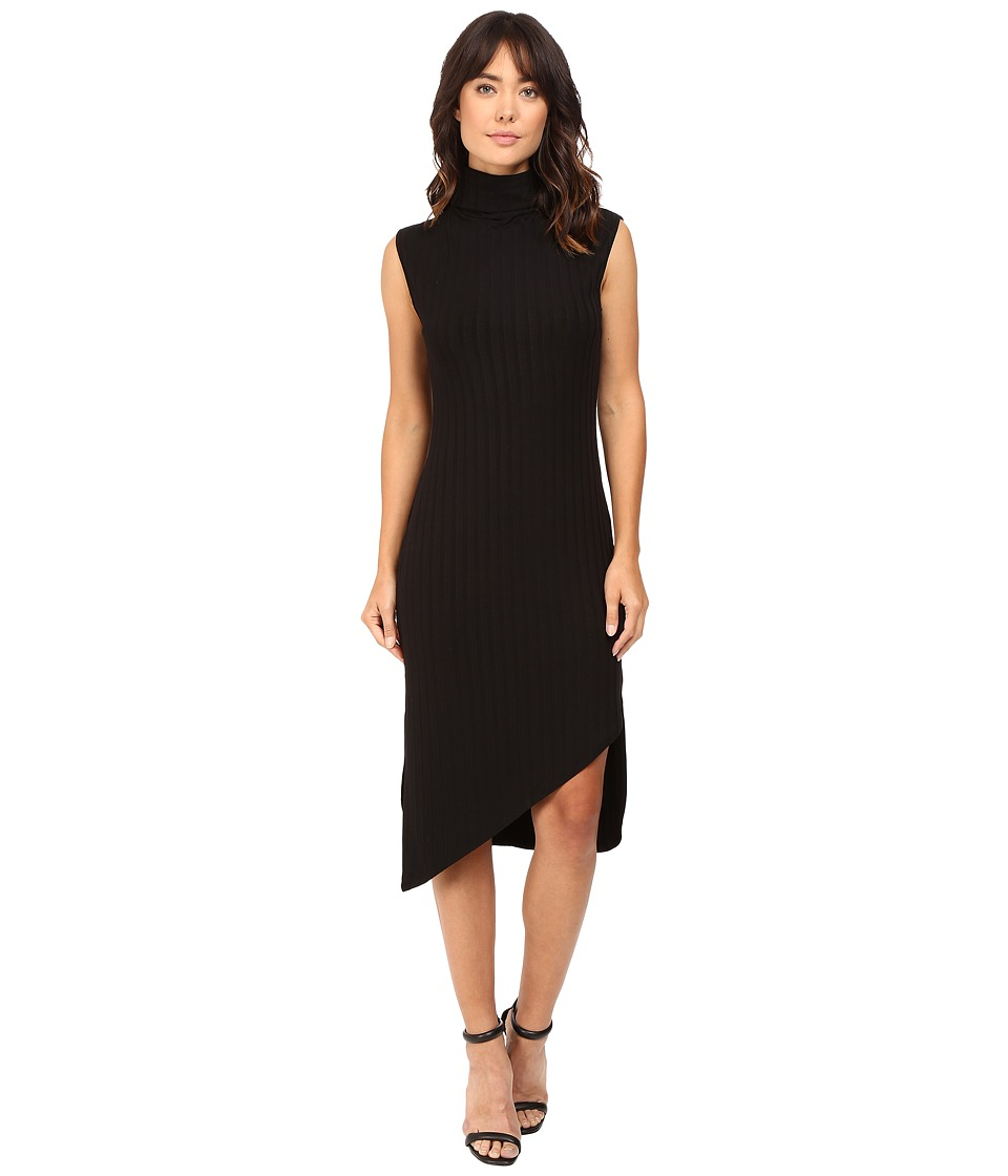 HEATHER - Poor Boy Mock Neck Dress (Black) Women's Dress