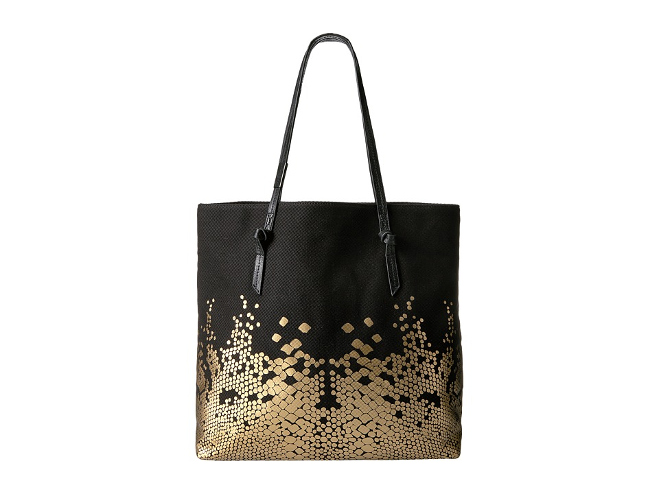 Foley & Corinna - Venus Canvas Tote (Black/Gold) Tote Handbags