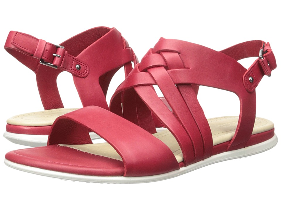 ECCO - Touch Braided Sandal (Chili Red Calf Leather) Women's Sandals