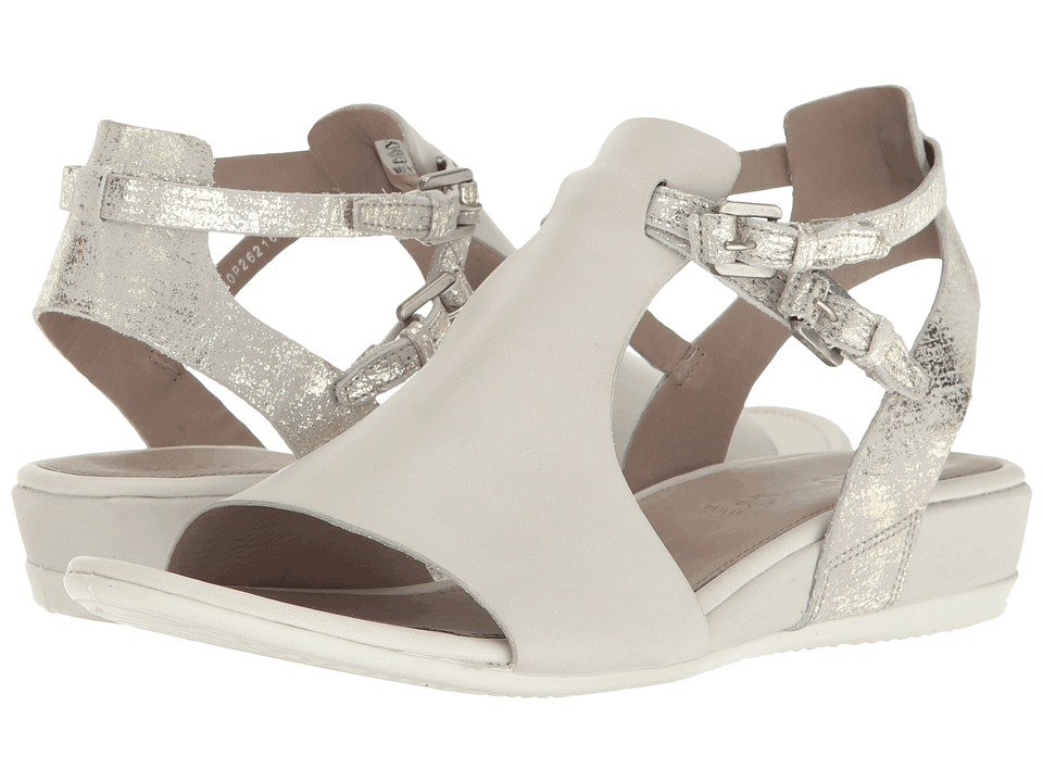 ECCO Touch 25 Hooded Sandal (Shadow White/Gravel Cow Nubuck/Cow Suede) Women