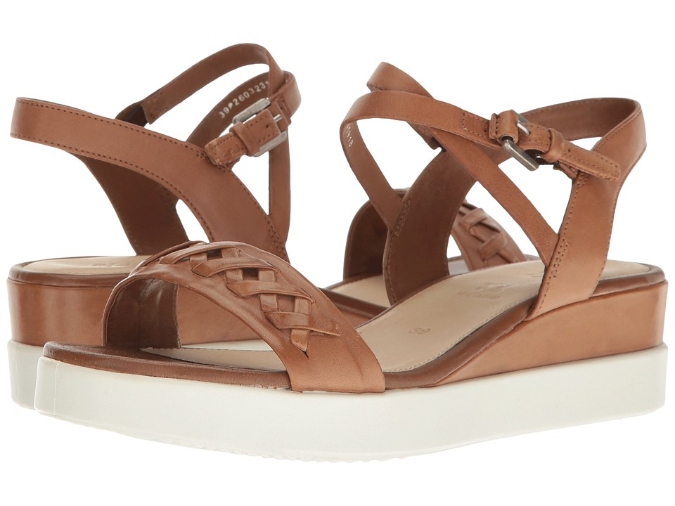 ECCO - Touch Braided Plateau (Whisky Cow Nubuck) Women's Sandals