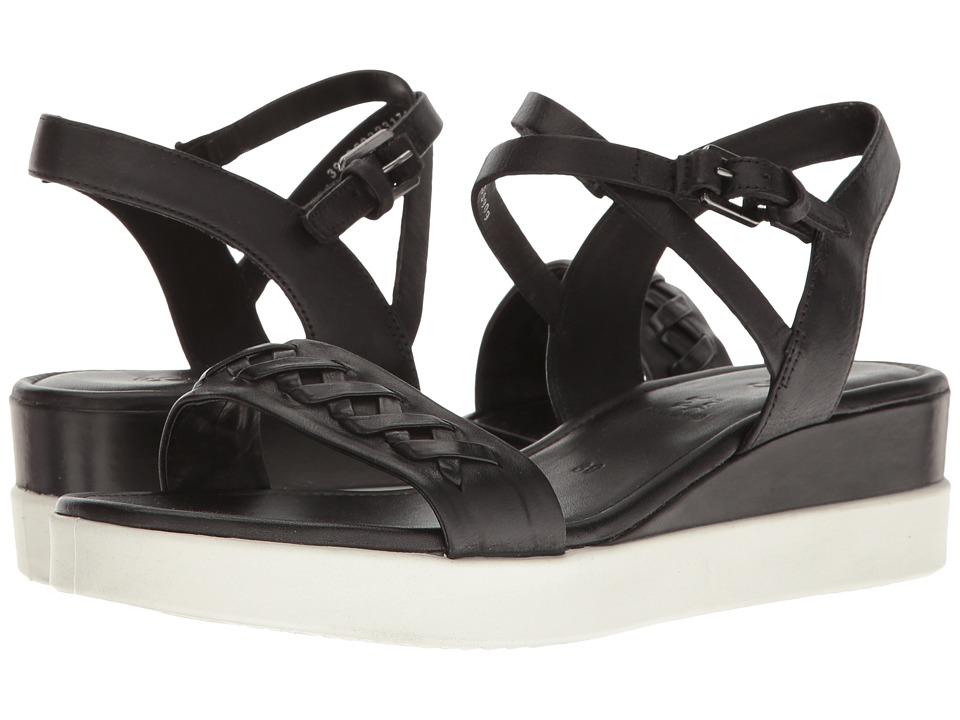 ECCO - Touch Braided Plateau (Black Cow Nubuck) Women's Sandals