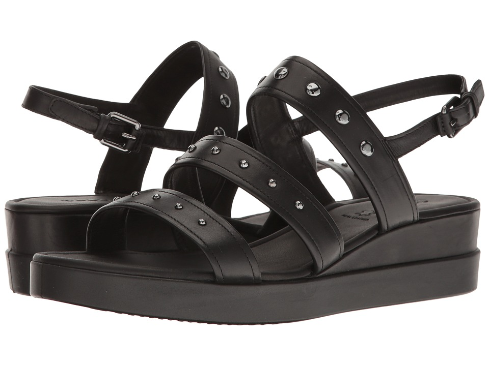 ECCO - Touch Strap Plateau (Black Cow Leather) Women's Sandals