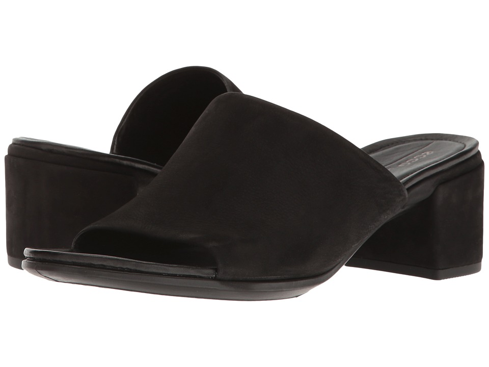 ECCO - Shape 35 Slide Sandal (Black Calf Nubuck) Women's 1-2 inch heel Shoes