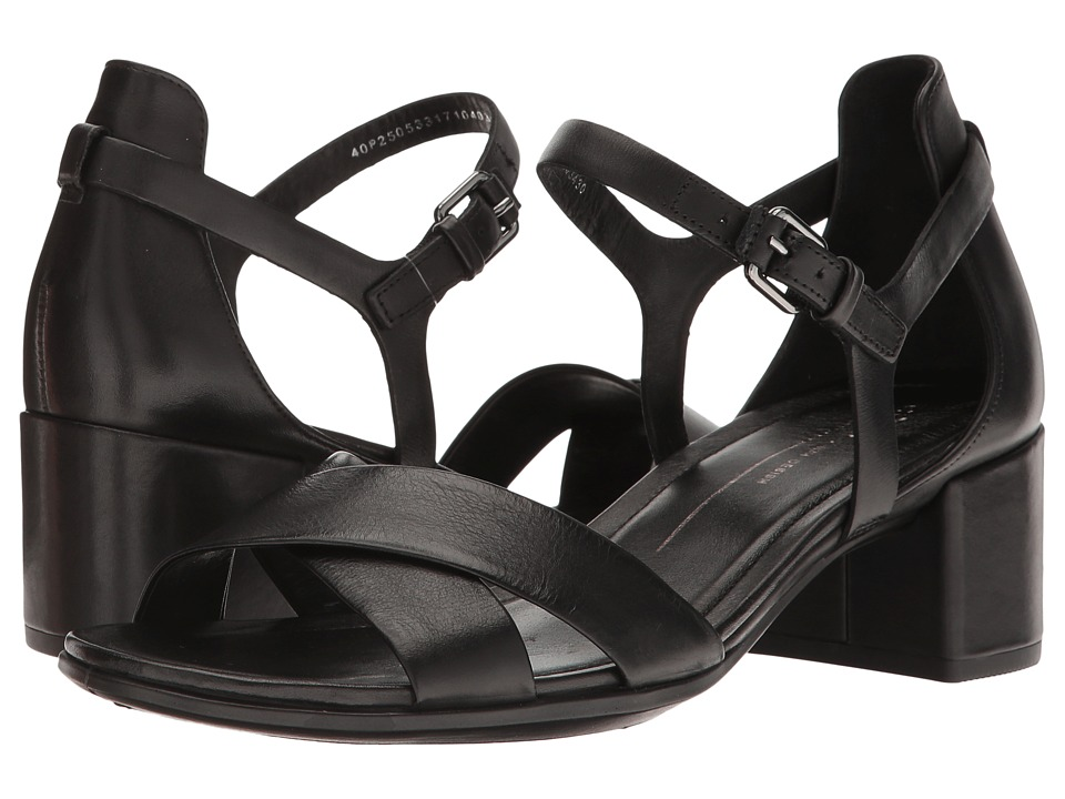 ECCO - Shape 35 Block Sandal (Black Cow Leather) Women's 1-2 inch heel Shoes