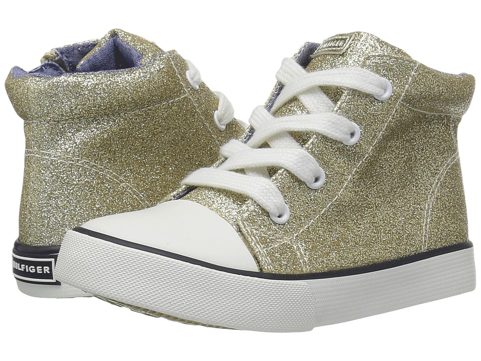 Tommy Hilfiger Kids - Denise High Top (Toddler/Little Kid) (Champagne Gold Glitter) Girl's Shoes