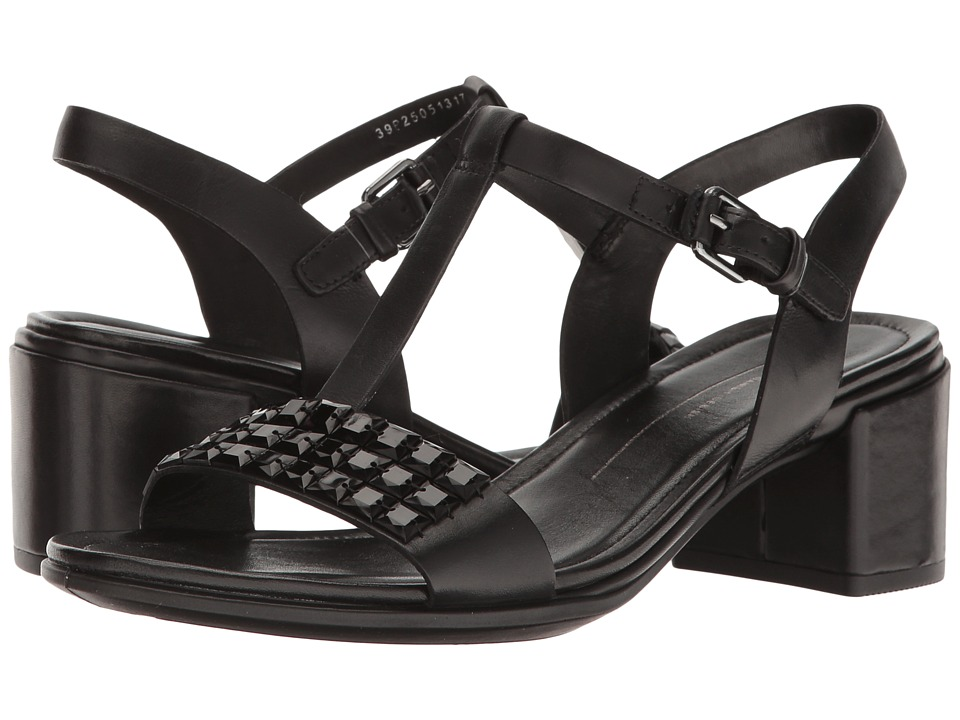 ECCO - Shape 35 Studded Sandal (Black Cow Leather) Women's 1-2 inch heel Shoes